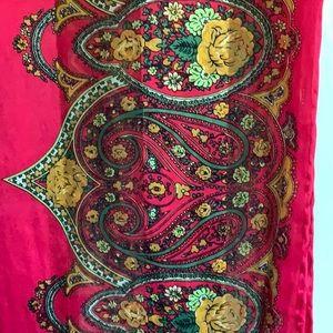 Accessories - NWOT..100% silk paisley print wrap/scarf